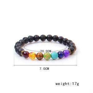 Jewelry - 7 Chakra Lava Bracelet Essential Oil Diffuser